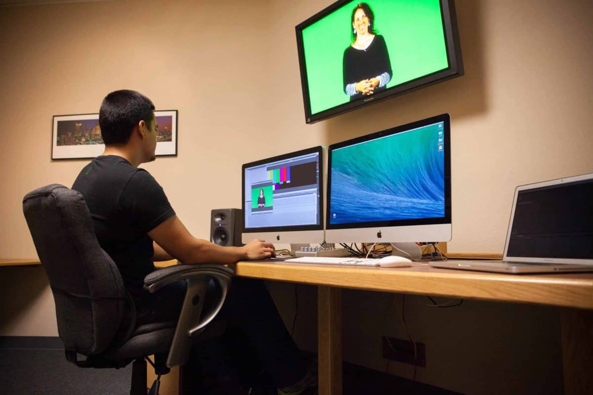 Video Editing with Premier Pro at ICV in the edit suite