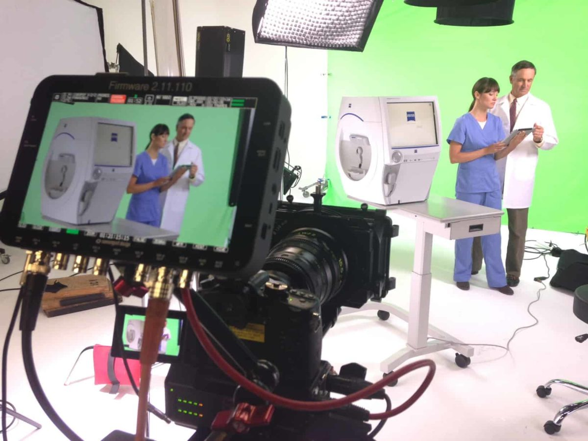 Green Screen Shoot in the ICV Video Studio Rental in the San Francisco Bay Area