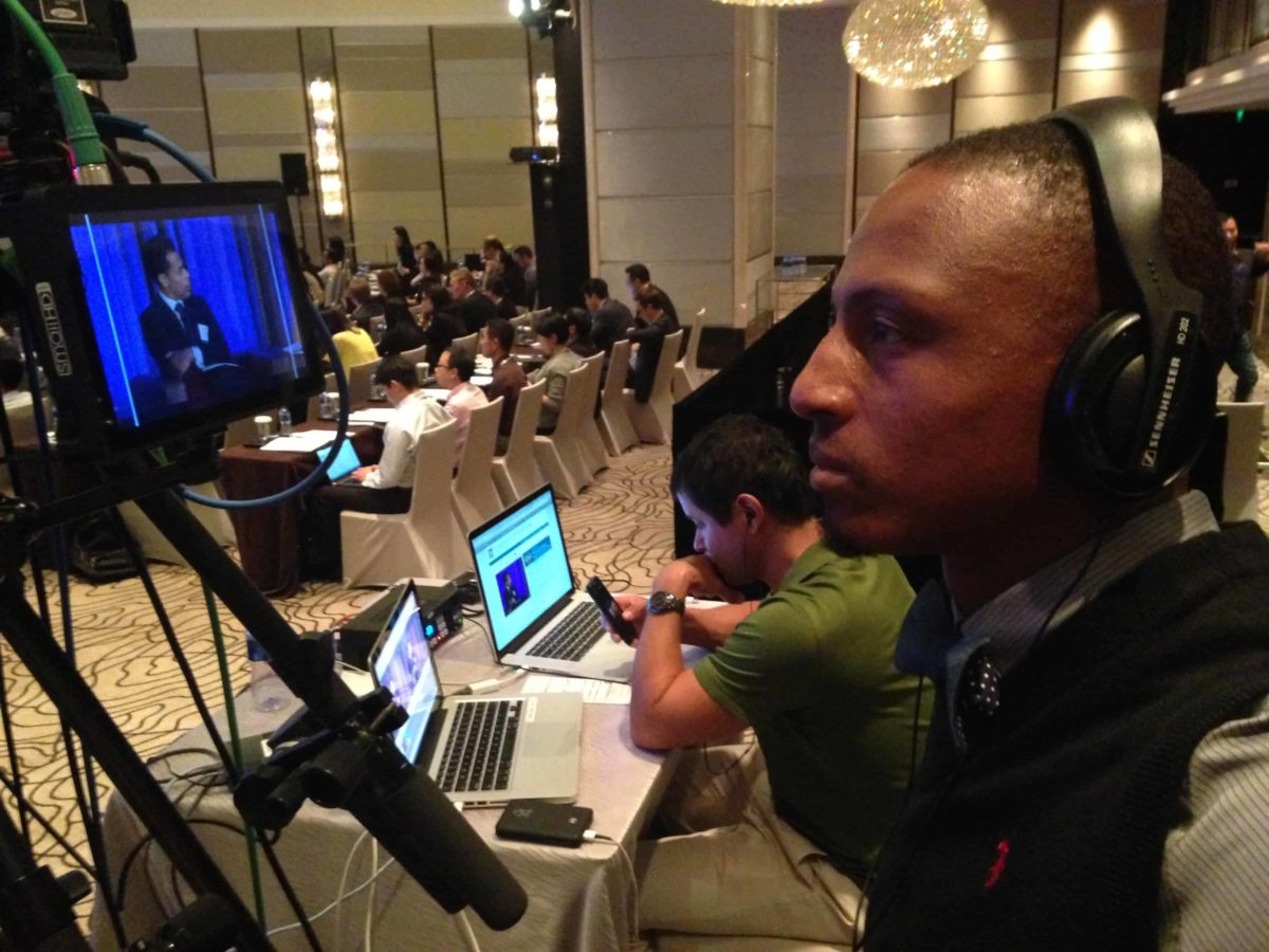 Shooting a live webcast in China
