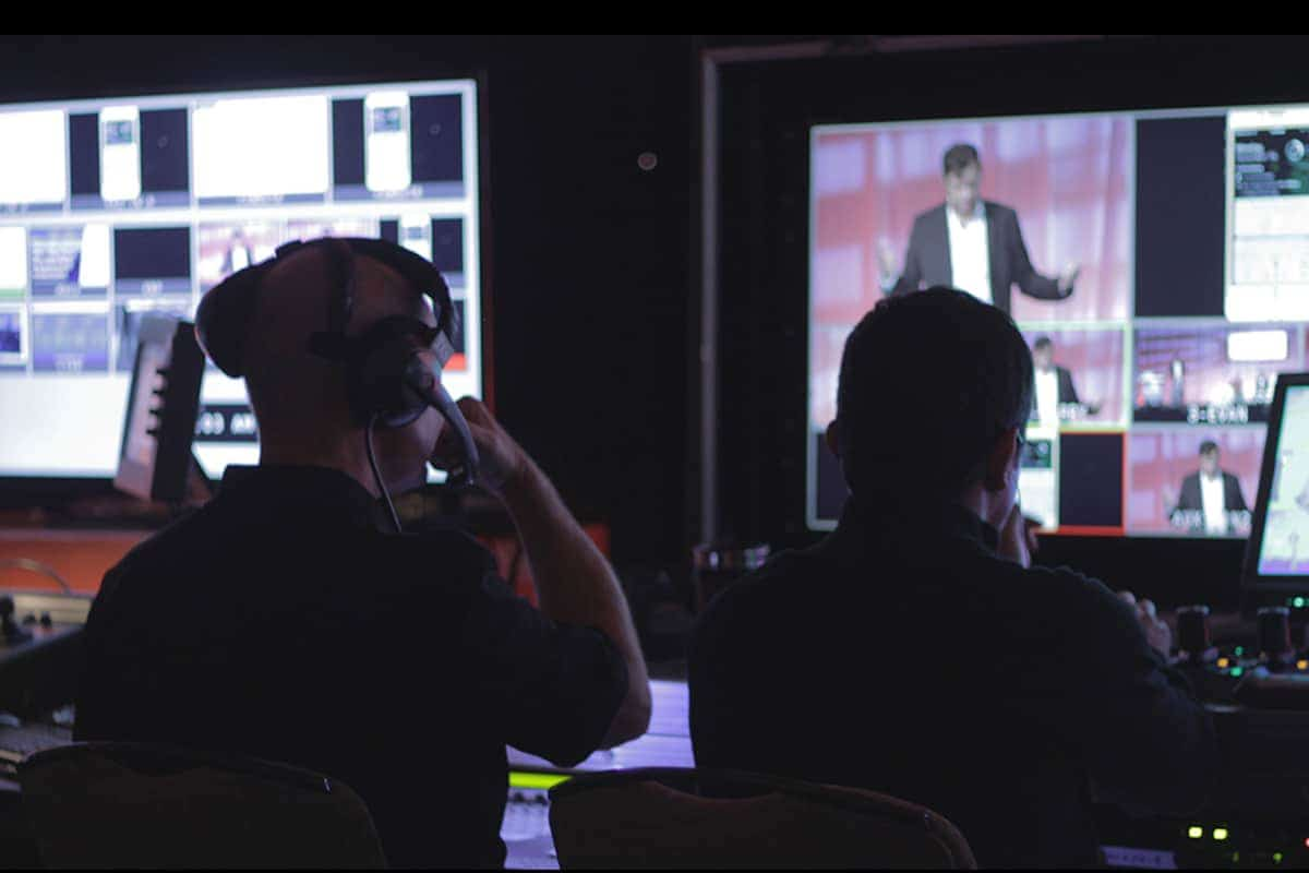Video Flypack video production at a conference by iCV