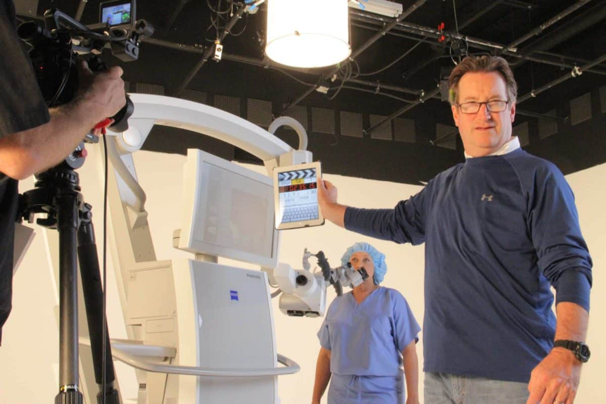Medical Device video production in the ICV Video Studio